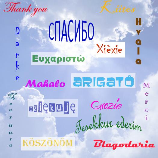 Перевести на английский спасибо за поздравление